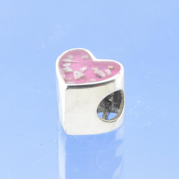 Love You Cremation Ash Resin Heart Bead