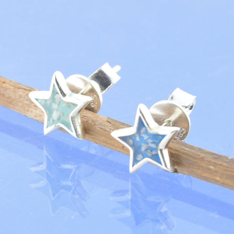 Resin Star Cremation Ash Earrings