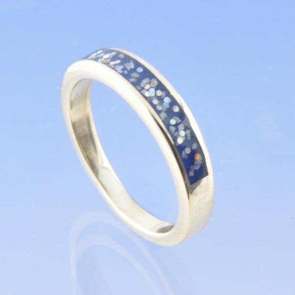 Cremation Ash Ring. Tuscany -3mm Part Channel