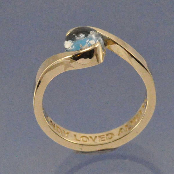 Cremation Ash Crossover Ring