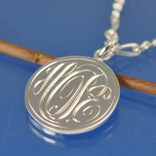 Personalised Cryptic Monogram Pendant