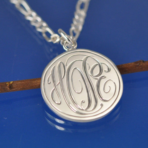 Personalised Cryptic Monogram Pendant Pendant Chris-Parry-Handmade
