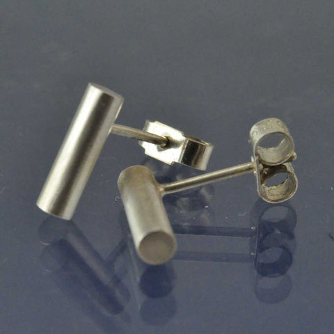 Cremation Ash Cylinder Studs Earring Chris-Parry-Handmade