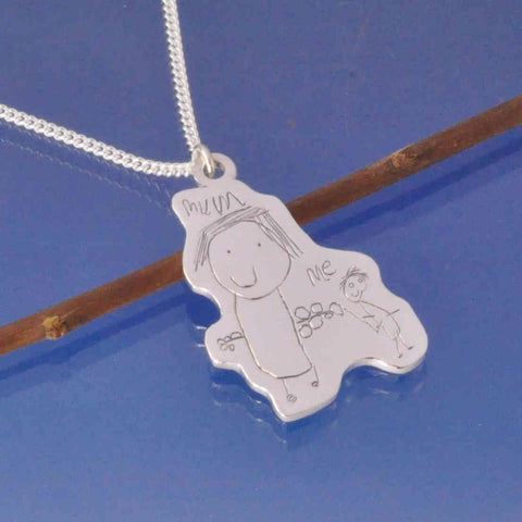 Kids Drawing Pendant Cut Out