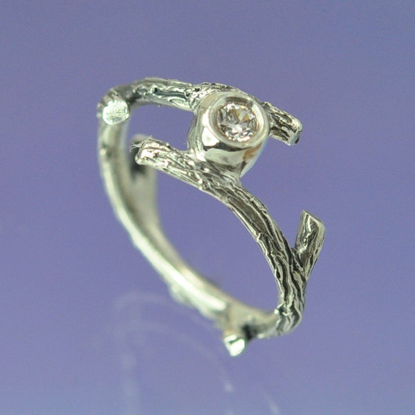 Twig Diamond Ring