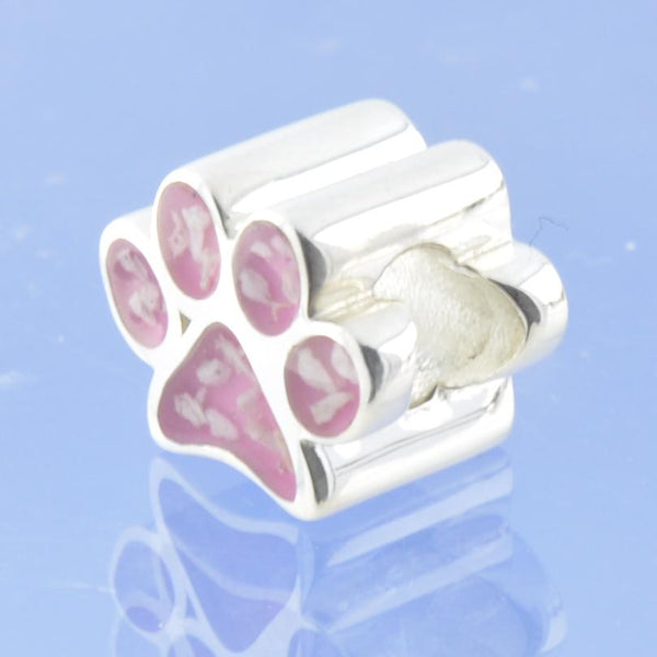 Cremation Ash Resin Paw Print Bead