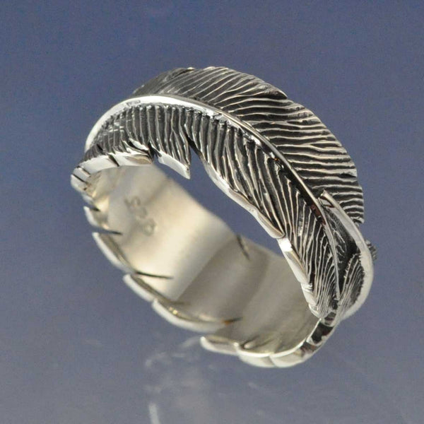Cremation Ash Endless Feather Ring