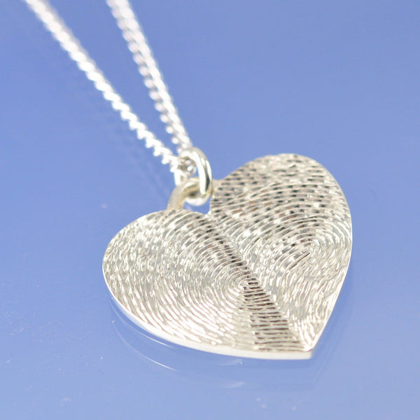 Double Fingerprint Necklace
