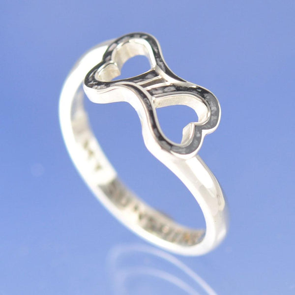 Cremation Ash Resin Dual Heart Ring