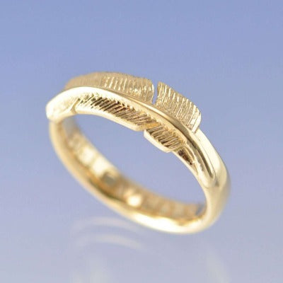 cremation ash feather ring