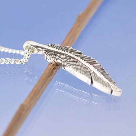 Feather Cremation Ash Pendant
