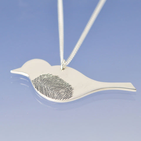 Fingerprint Bird Pendant