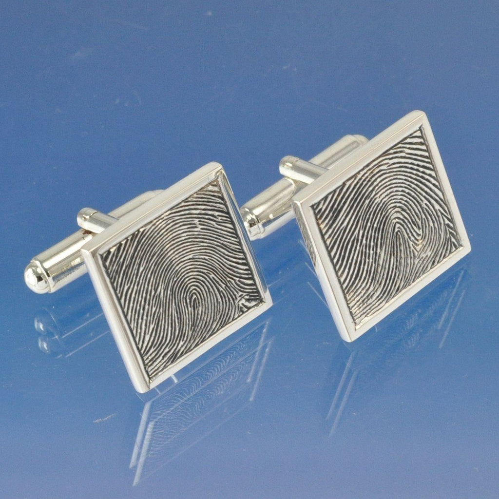 Fingerprint Cufflinks - Square