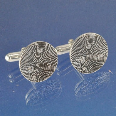 Fingerprint Cufflinks Cufflinks Chris-Parry-Handmade