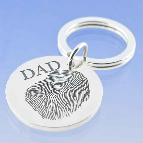 Round Fingerprint Key Ring