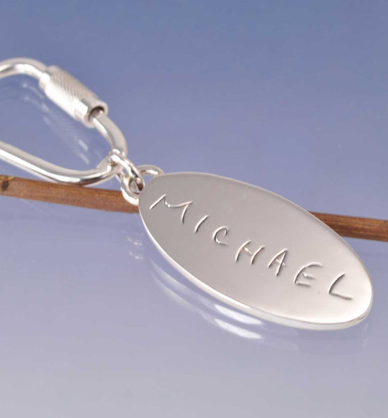 Fingerprint Key Ring with Cremation Ashes