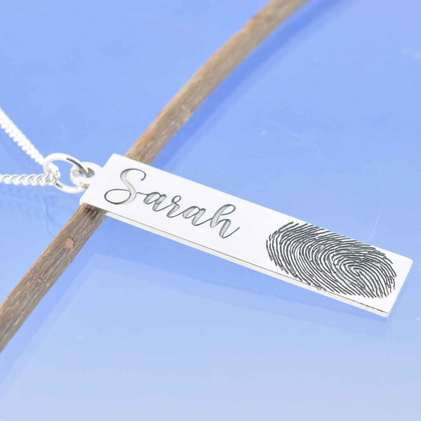 Fingerprint Drop Pendant