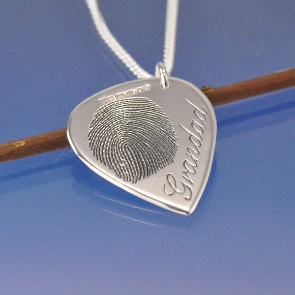 Fingerprint Guitar Plectrum Pendant