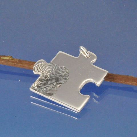 fingerprint jigsaw puzzle necklace