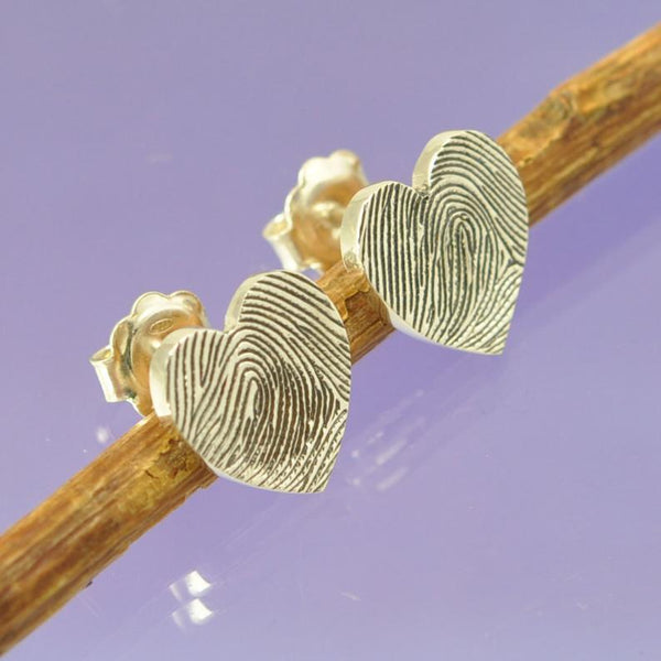 Fingerprint Heart Earrings