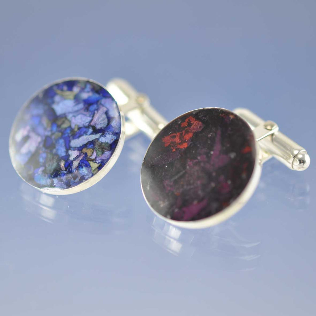Your Dried Flower Petals - Cufflinks Cufflinks Chris-Parry-Handmade