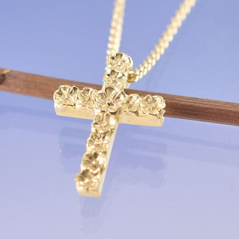 Forget Me Not Cross Pendant Chris-Parry-Handmade