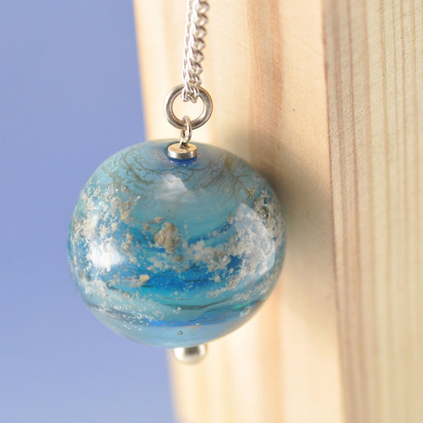 Glass Globe Cremation Ash Pendant