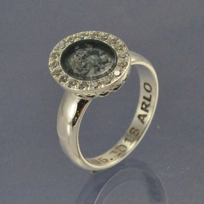 Oval Halo Sparkling Cremation Ash