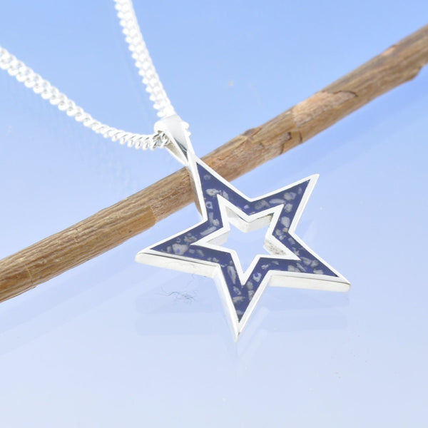 Halo Star Cremation Ash Pendant
