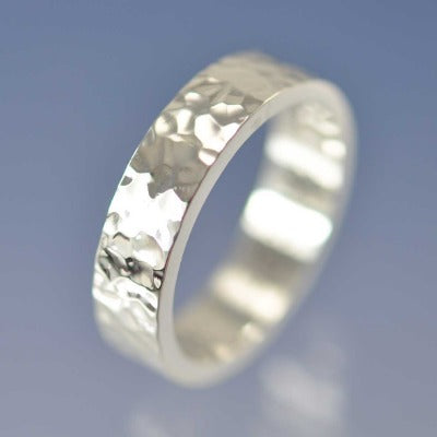 Hammered Band with Cremation Ashes