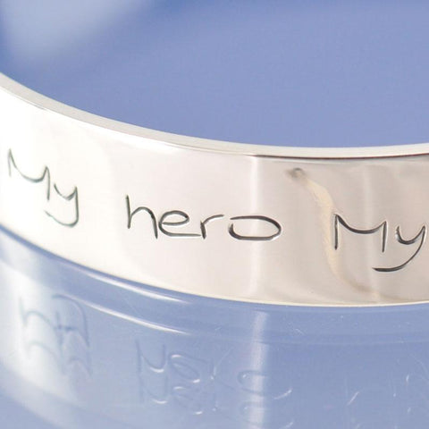 10mm Handwriting Personalised Bangle