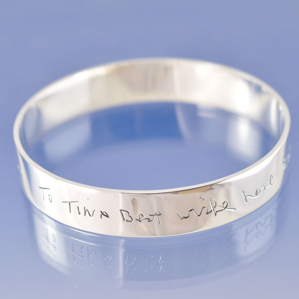 12mm Handwriting Personalised Bangle