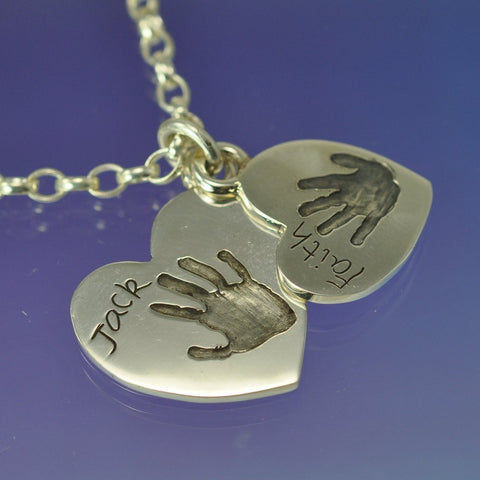 Hand or Foot Print Pendant Heart
