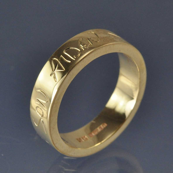 Hand Writing Ring