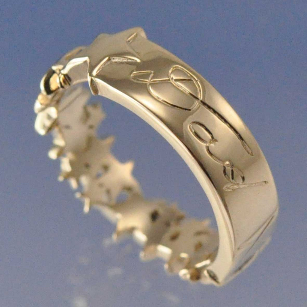 hand writing cremation ash ring