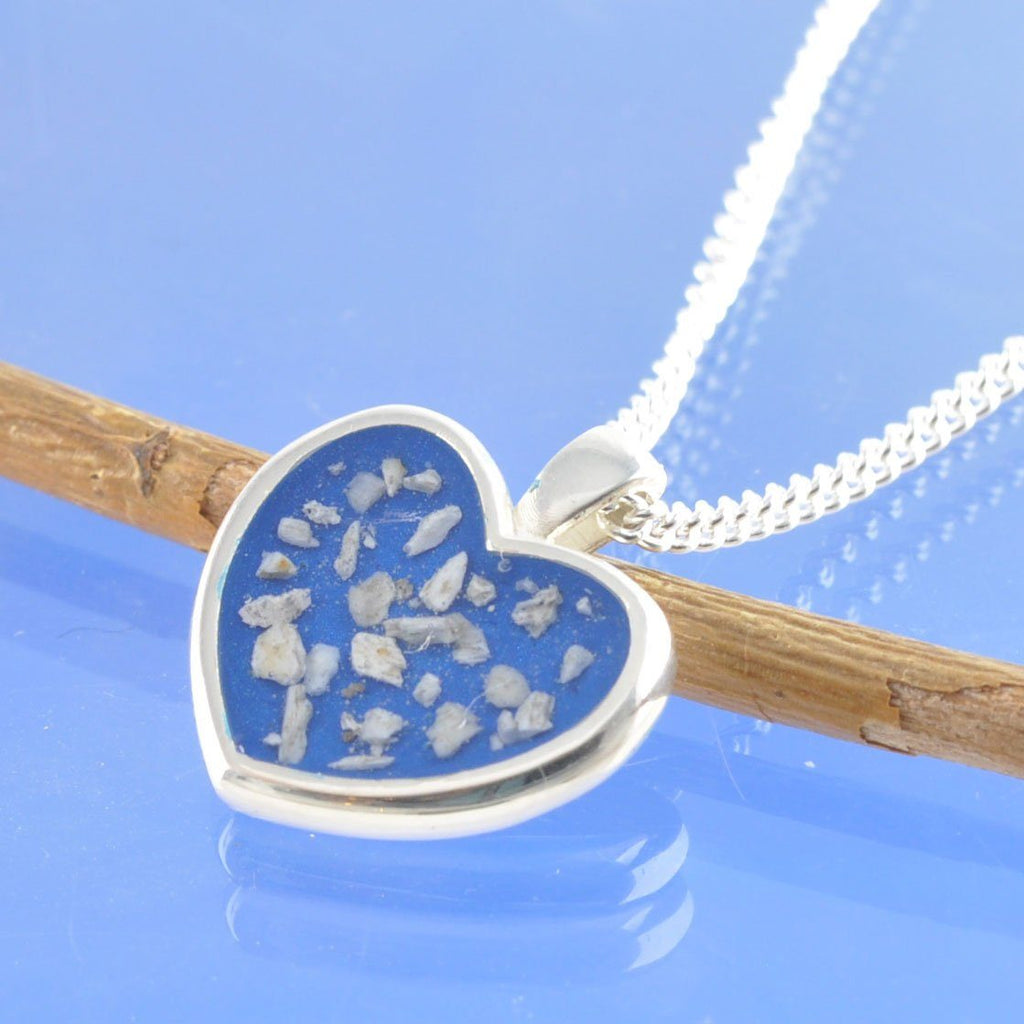 Love Heart Cremation Ash Pendant 20mm Pendant Chris-Parry-Handmade