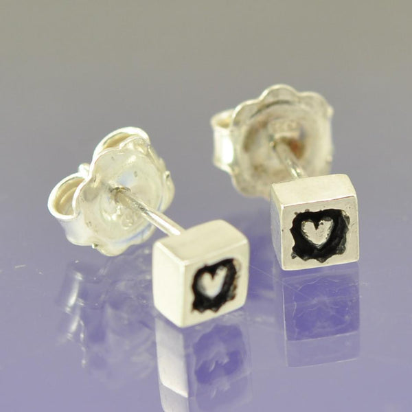 Hearts Within. Stud Earrings.