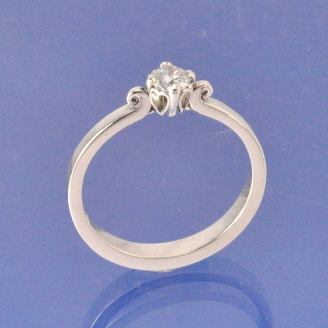 Love Heart Setting Diamond Ring Ring Chris-Parry-Handmade