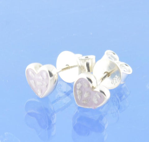 Cremation Ash Heart Earrings Earring Chris-Parry-Handmade