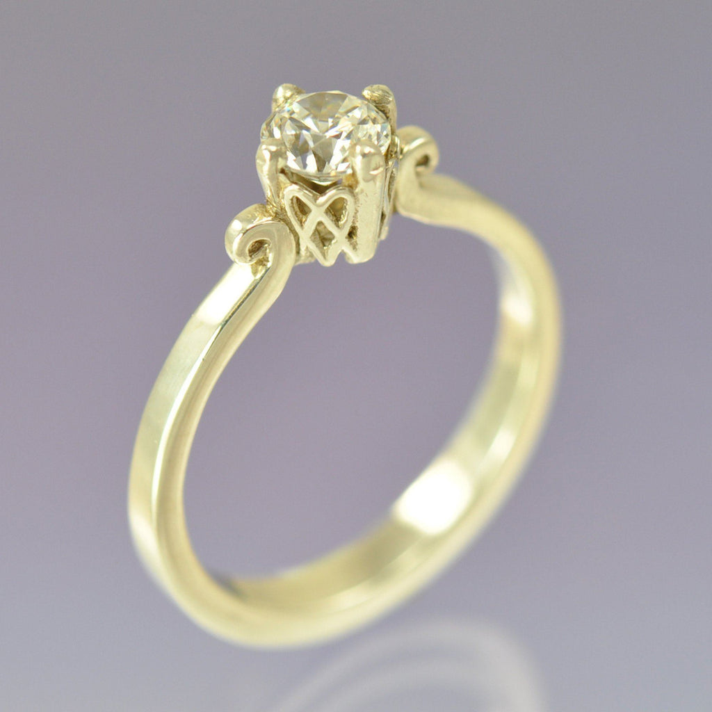 Celtic Heart Diamond Ring