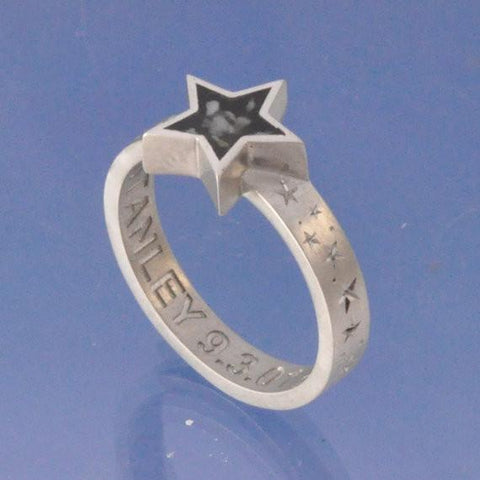 Cremation Ash Star Resin Ring Ring Chris-Parry-Handmade