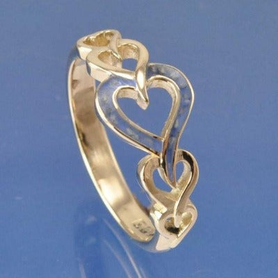 Cremation Ash Resin Entwined Hearts Ring