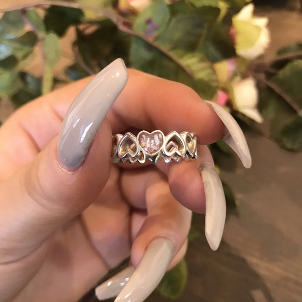 Endless Heart Resin Cremation Ash Ring