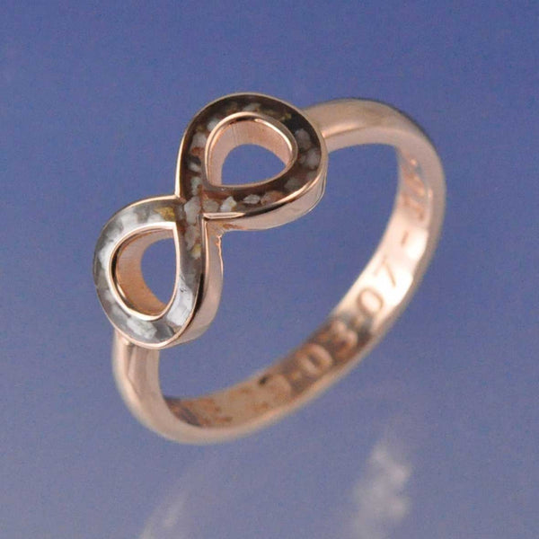Cremation Ash Resin Infinity Ring