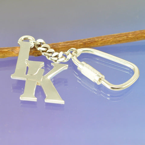 Sterling Silver Initial Key Ring