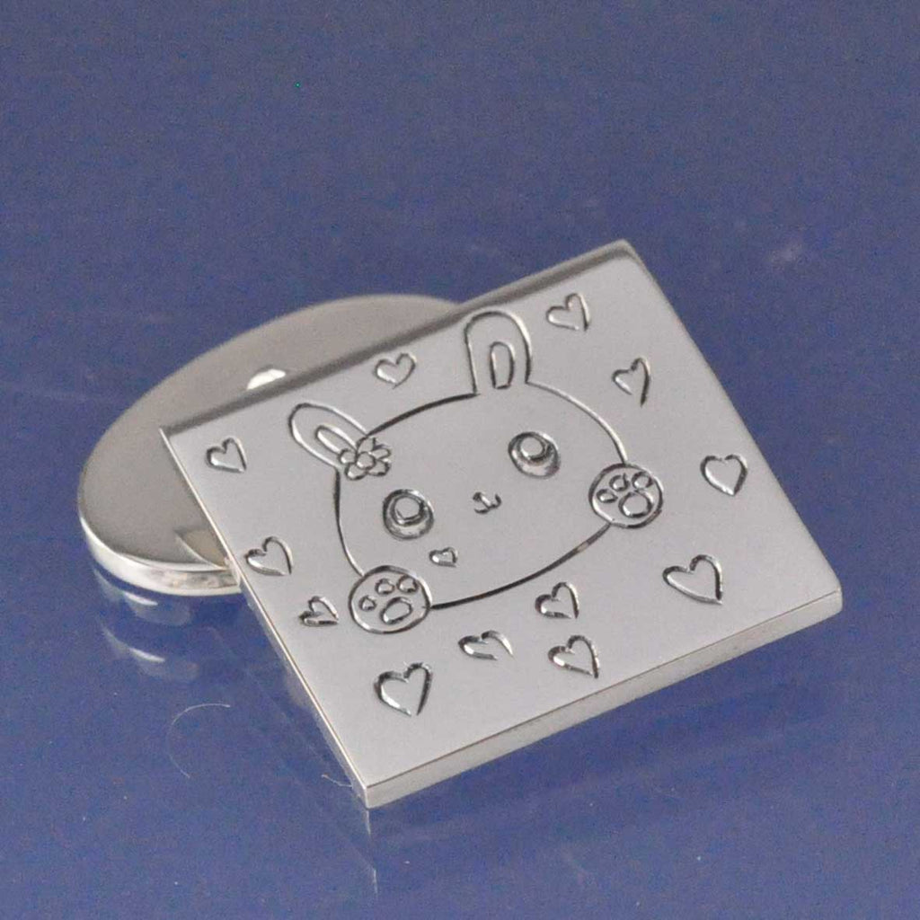 Kids Drawing Cufflinks With Chain