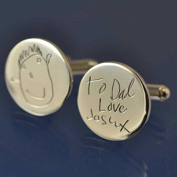 Kids Drawing Cufflinks