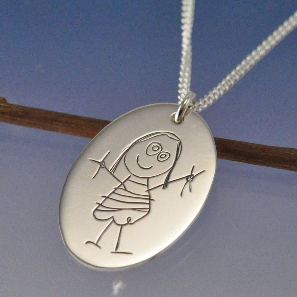 Kids Drawing Pendant