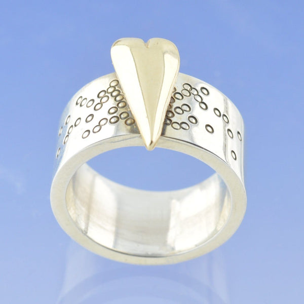 Large Effervescent Heart Cremation Ash Ring