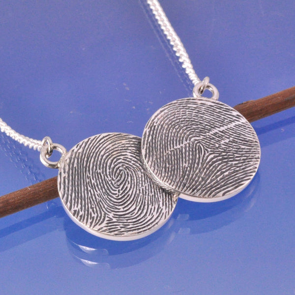 Fingerprint Circle Pendant